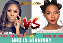 Tiwa Savage VS Yemi Alade who is winning