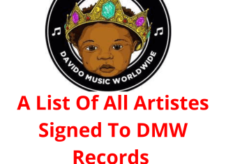 A List Of All Artistes Signed To DMW Records (SEE FULL LIST)