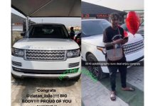 Zlatan Ibile Buys Himself a Range Rover for his 25th Birthday