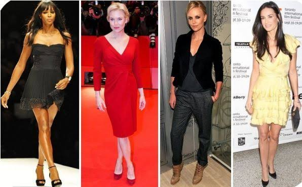 Inverted triangle shaped celebrities