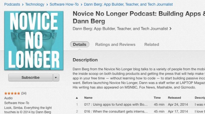 Novice No Longer Podcast iTunes