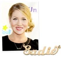 Christina Applegate fez o colar com o nome de sua filha, Sadie