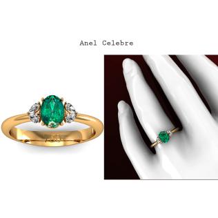Anel Celebre é um modelo de Joia com requinte e luxo. Esta joia exalta a beleza de uma Esmeralda de 95 pontos, rodeada de 4 diamantes em forma de gota que somam 32 pontos. O design desta joia permite que a junção de cada dois diamantes gota formem um Coração. Uma joia desenvolvida para mulheres elegantes. https://www.casasaopaulojoias.com.br/produto/736119/celebre-anel-de-formatura-com-esmeralda