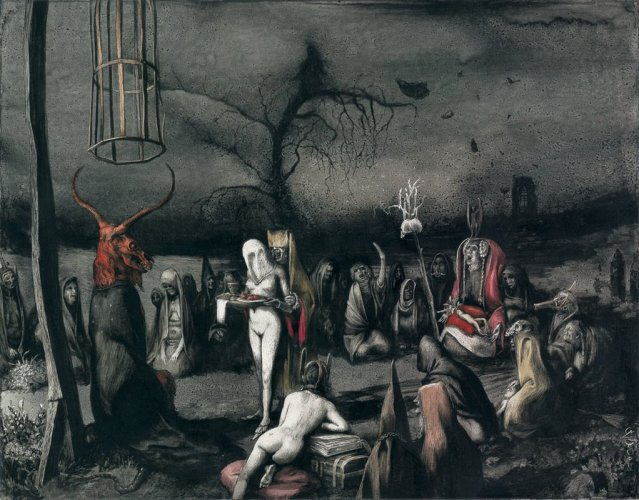 "Santiago Caruso, ""Aquelarre"", Noviembre Nocturno, The Witch, Black Phillip"