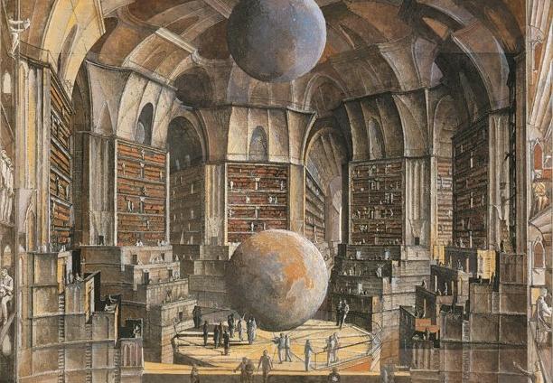 """La biblioteca de babel"" Erik Desmazier"