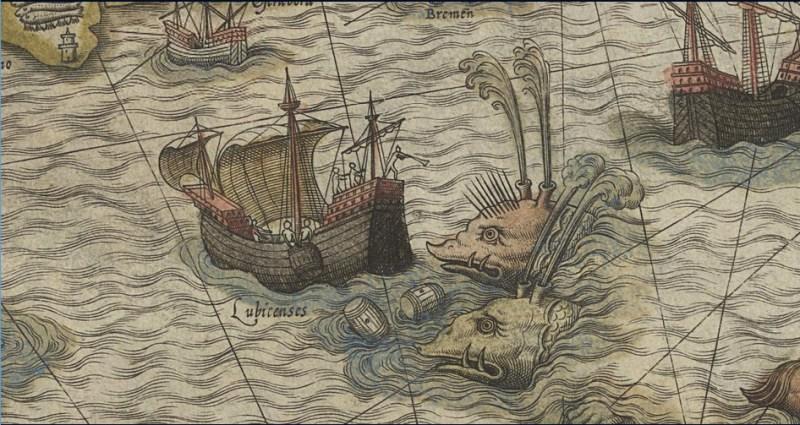 """Olaus Magnus's Carta Marina"""" 1572"""