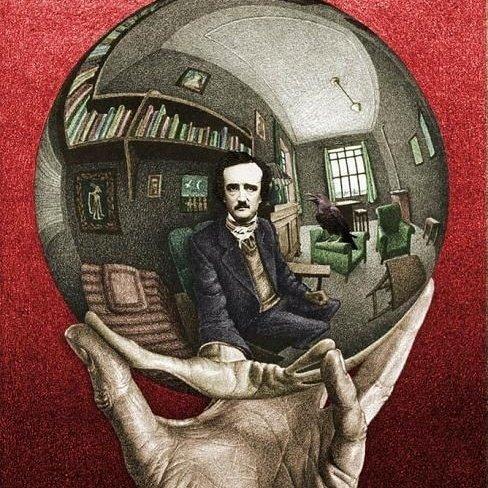 Escher Edgar Allan Poe Noviembre Nocturno