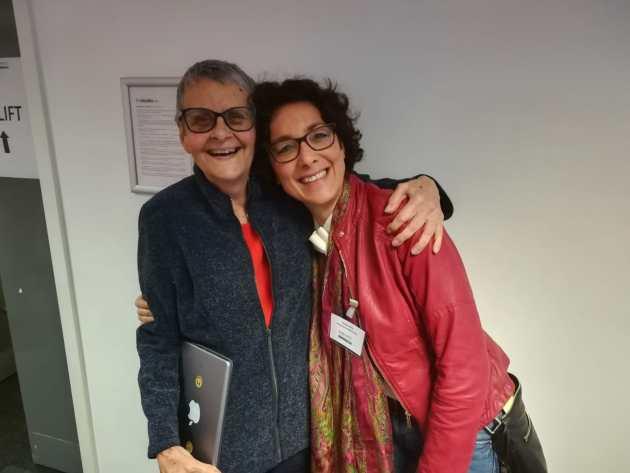 Io e Wendy Mitchell a Birmingham