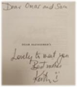 libro di omar firmato da Keith Oliver