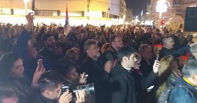 "Lečić i Đilas na protestu u Nišu; Foto: Pokret mladih ""Za Niš bez straha"""