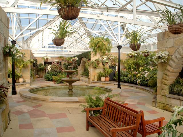 Inside the Conservatory at the Royal Tasmanian Botanical Gardens