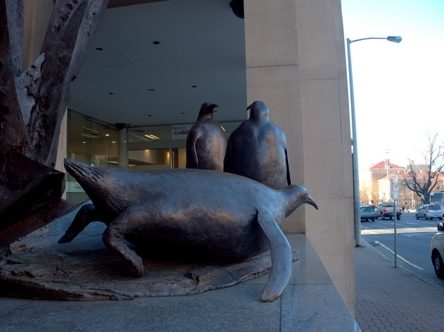 Bronze Sculpture by Stephen Walker, 1994, located at 111 Macquarie Street