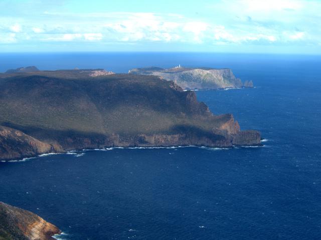 Looking south towards Cape Pillar and Tasman Island