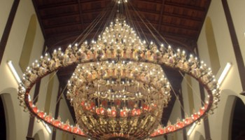 Huge chandelier in Hobart's newest Greek Orthodox Church