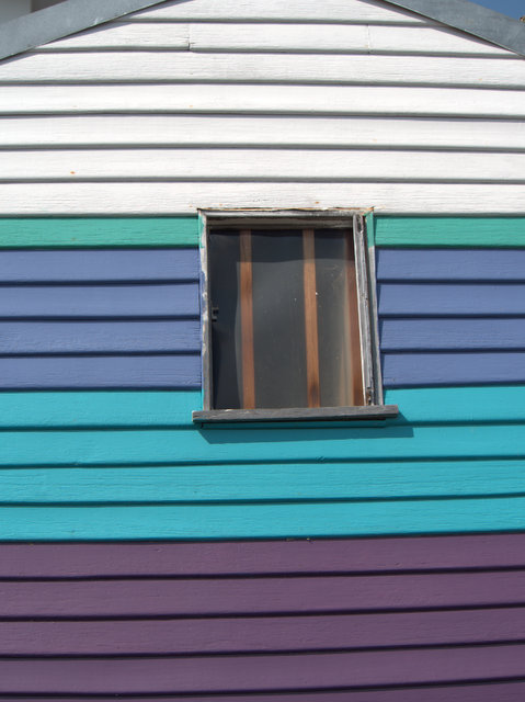 A brightly painted house at Tranmere