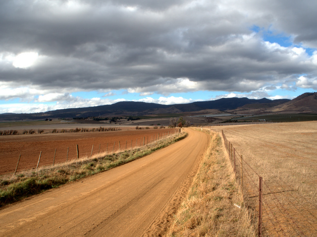 A lonely backroad in the Derwent Valley