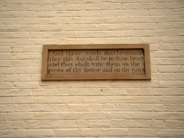 Ebenezer Shoobridge believed that his workers would be inspired by the 'improving' biblical texts with which he adorned his oast house