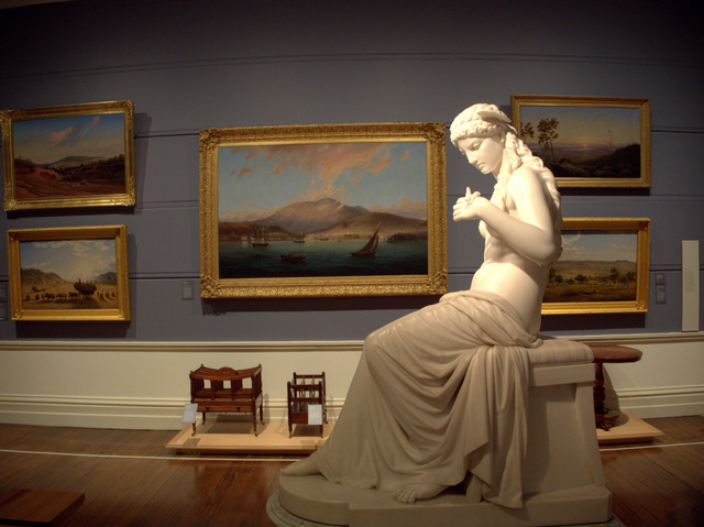 TMAG's much loved Colonial Gallery fits right in to the themes of Tempest, with the addition of a family telescope by Ricky Swallow (below)