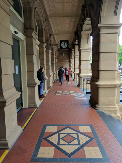 Colonnade at the front of Hobart' GPO