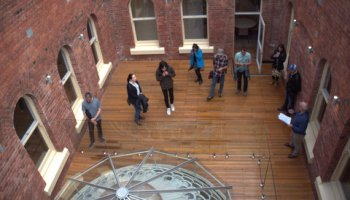 First floor courtyard and dome, Hobart GPO