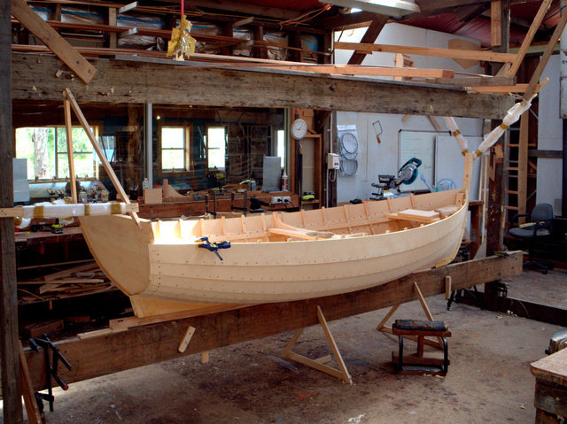 A work in progress at the Wooden Boat Centre