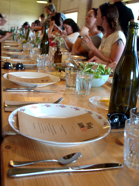 Long table lunch at Fat Pig Farm