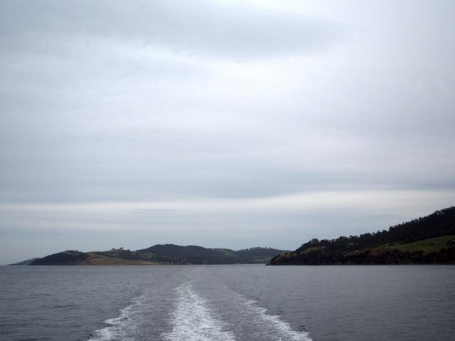 Returning to Hobart on Peppermint Bay Cruises