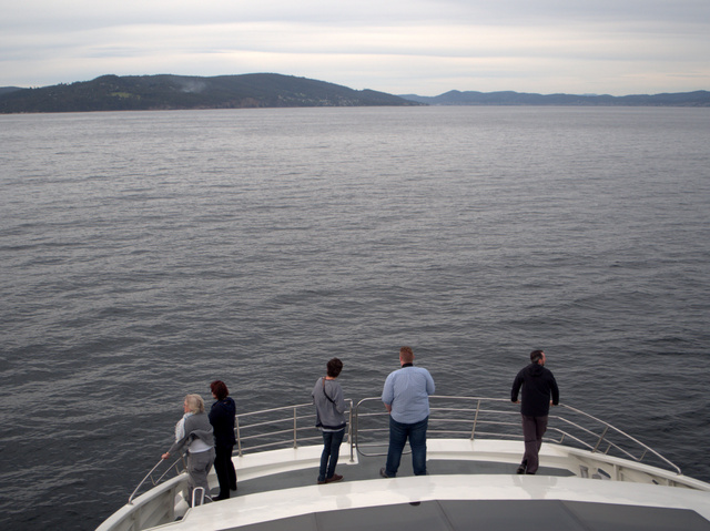 Returning to Hobart aboard Peppermint Bay Cruises