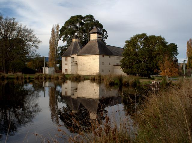 Old oast house - the Text Barn - at Bushy Park