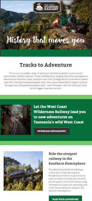 Tracks to Adventure with the West Coast Wilderness Railway