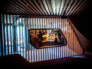Archaeological artefacts on display at the Evolve Spirit Bar
