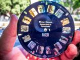 Custom ViewMaster slide disc with historic images of Hobart