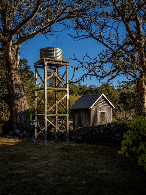 A watertank at Steppes Homestead