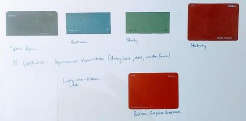 Interior colour swatches