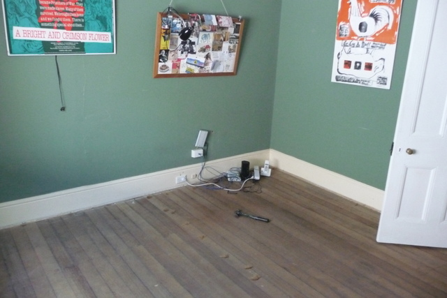 The study with carpet stripped out