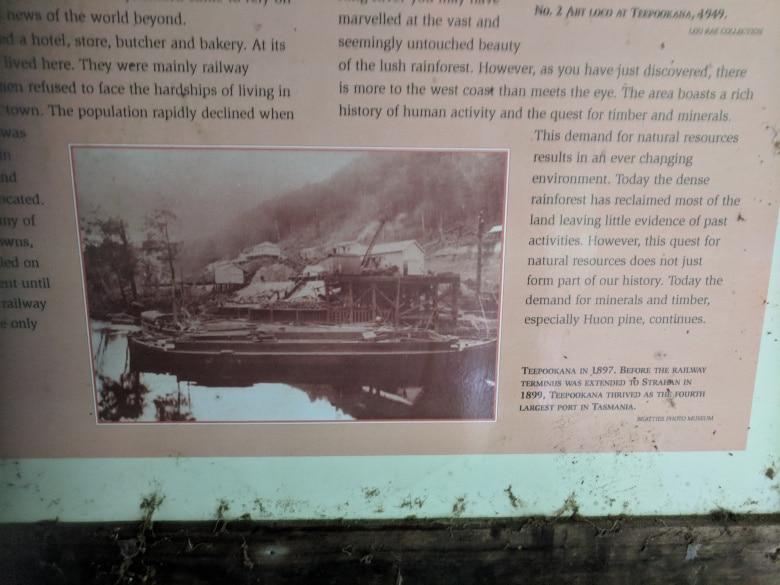 An historic photograph showing Teepookana at its most active