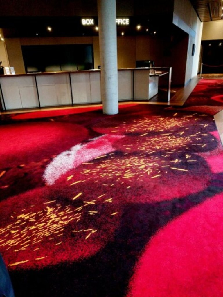 Fiery carpet at The Hedberg