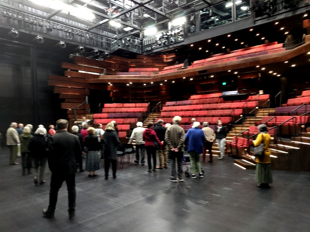 From the stage of the new Studio Theatre