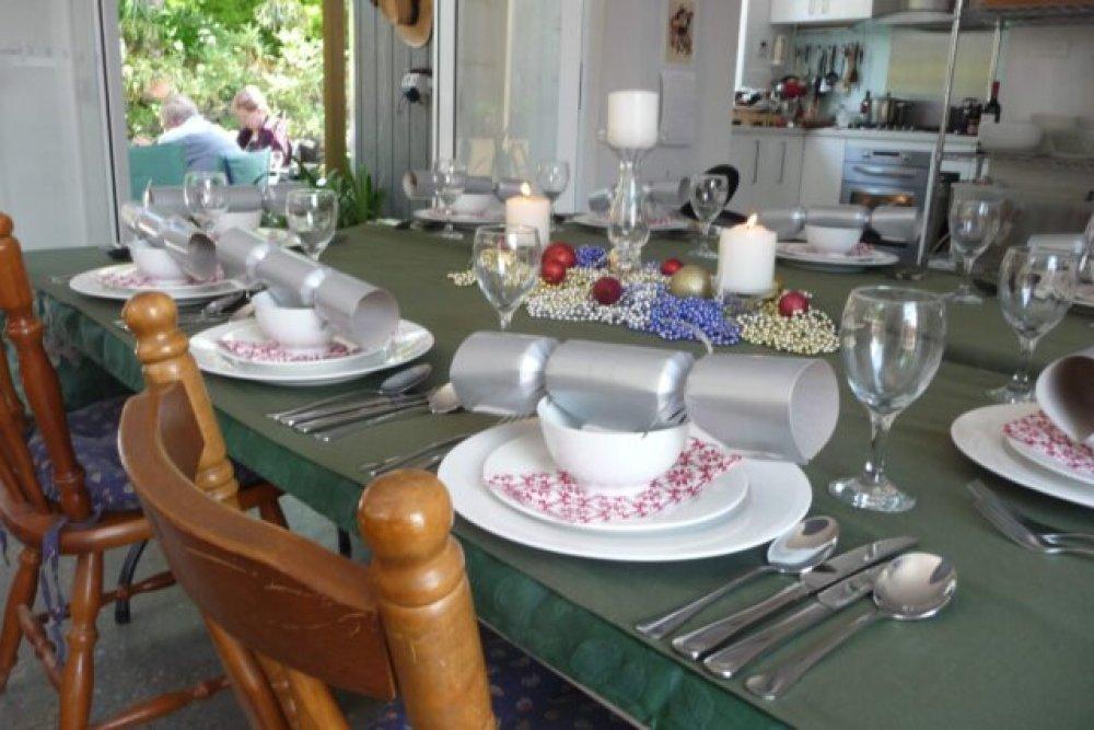 The table set for Christmas dinner 2011
