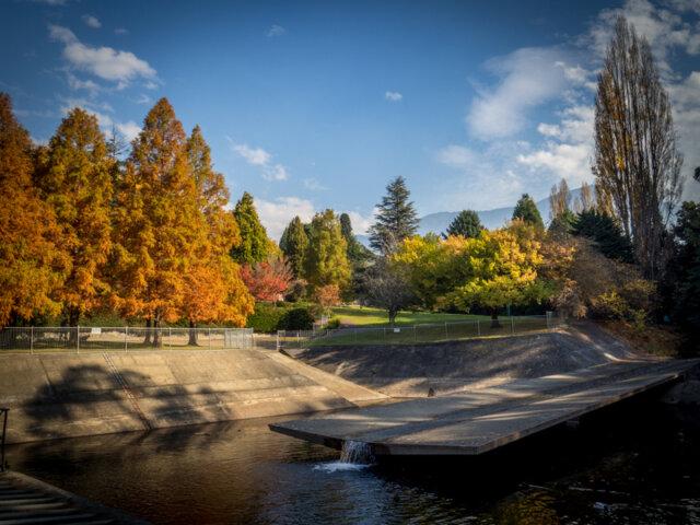 The Hobart Rivulet (or Cascades) passes through the Cascade Gardens, South Hobart