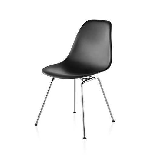 Shell Chair in Metal Chromed Legs