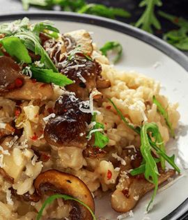 Receita de risoto de cogumelo para acompanhar o vinho Malbec