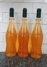 Quince and rose petal wine bottled
