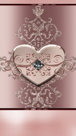 rose gold iphone cute wallpapers backgrounds phone heart bling hearts flowers hd flower unknown artist background glitter hello kitty diamond