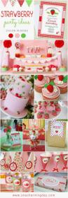 birthday party themes strawberry theme creative 1st themed baby bday parties summer fun pink onecharmingday birthdays cake idea daughter moppet