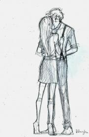 pencil sketches drawings couple couples boy kissing sketch cute drawing kiss dancing friends anime boys manga burdge reference visit iii