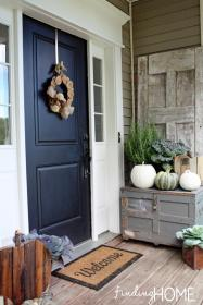 porch fall door decorating doors decoration entry decor porches decorate dark diy wood navy finding interior decorations outdoor farmhouse reclaimed