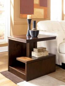 table end narrow tables living room drawers side modern contemporary furniture simple brown sofa cool decor applying varnished mahogany tiers