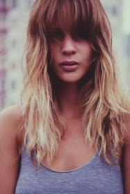 pelo cortes largo flequillo hair length bangs layered cabello hairstyles haircuts wavy fringe ombre recto mid hairstyle wind blonde corte