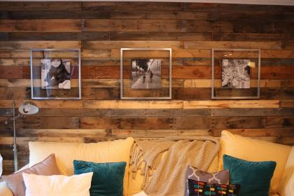 wall rustic wood walls glass frames interior paneling diy stainless steel decor idea panel decorating yourself wonder chose contrast luke